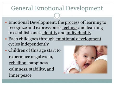 social and emotional development ppt 457 | General Emotional Development