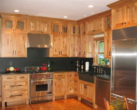 Rustic Cherry Cabinets Ideas, Pictures, Remodel And Decor Travertine Floor Kitchen Best Color For The Countertop Sink Unique Backsplashes Black Granite Countertops Warm Flooring How To Install Yourself Kitchens With