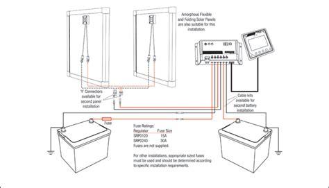 dual battery dual panel srp regulator wiring redarc