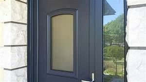 installation d39 une porte d39 entree pvc gris anthracite With installation d une porte d entree