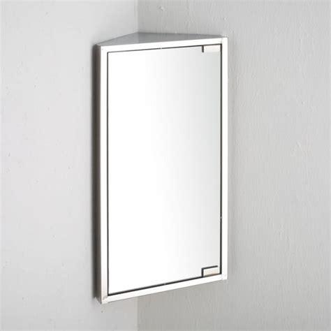 Bathroom Corner Wall Cabinet  Single Door Corner Mirror