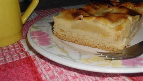 Tarta De Peras Con Crema Pastelera