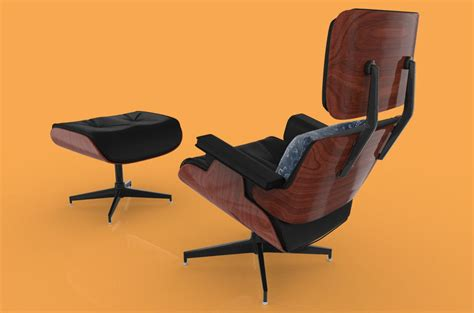 eames lounge chair bygus free 3d model max 3ds cgtrader