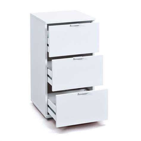 caisson de bureau blanc caisson de bureau 3 tiroirs quot nakano quot blanc
