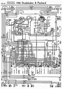 Wiring Diagrams 911  1958 Studebaker And Packard Golden Hawk And Packard Hawk Wiring Diagram