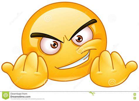 emoticon agresivo ilustraciones stock vectores  clipart