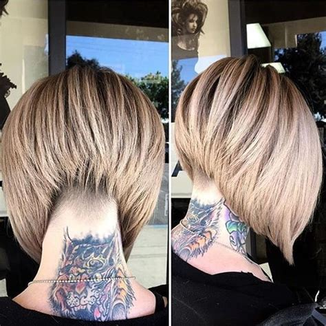 stacked bob haircuts  sophisticated short haired