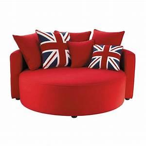 Canape rond british maisons du monde for Canapé 3 places pour deco chambre garcon ado