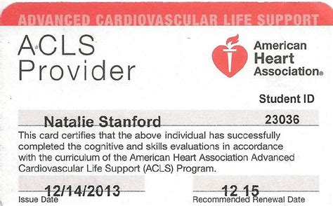Students are handed out the cpr or bls card at the end of the training course. CPR: BLS & ACLS - Professional Portfolio