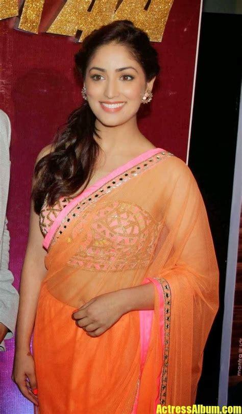 yami gautam bollywood actress latest saree stills actress album