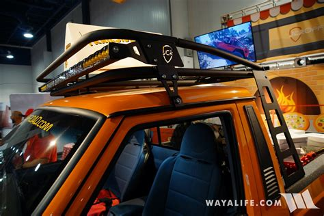 sema jcr offroad orange jeep comanche