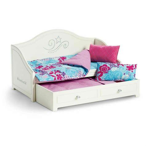american girl trundle bed  bedding set  dolls