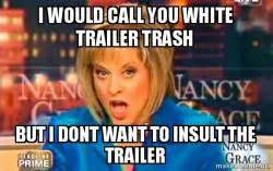 Trailer Trash Memes - i would call you white trailer trash but i dont want to insult the trailer false fact nancy
