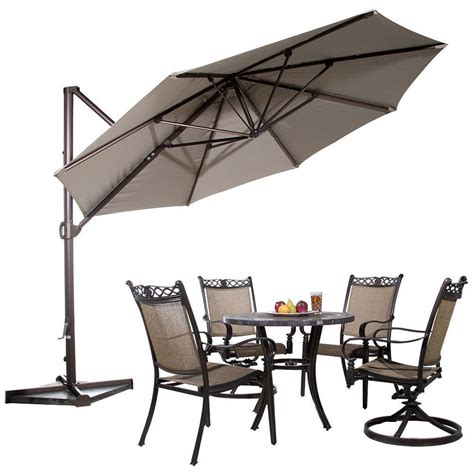 hton bay table l 11 ft offset patio umbrella hton bay patio umbrellas 11