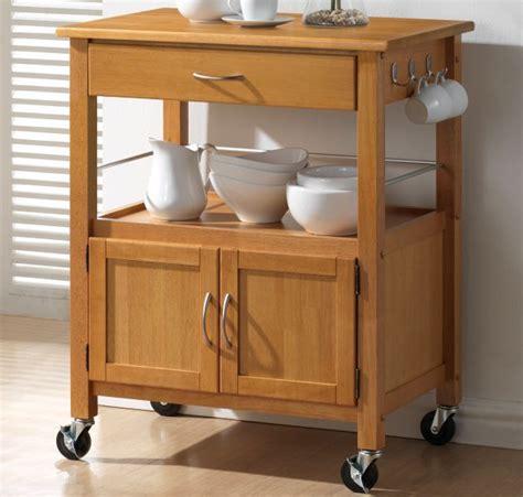 hardwood oak finish kitchen trolleys  price sale