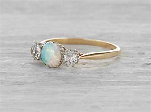 Vintage opal engagement rings wedding and bridal inspiration for Opal wedding rings