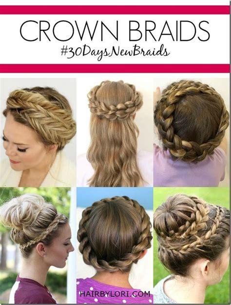 how to put hair style day 29 crown braid crown braids crown braid tutorials 9242