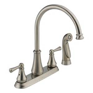 kitchen faucet sprayer replacement faucet 21902lf ss in brilliance stainless by delta