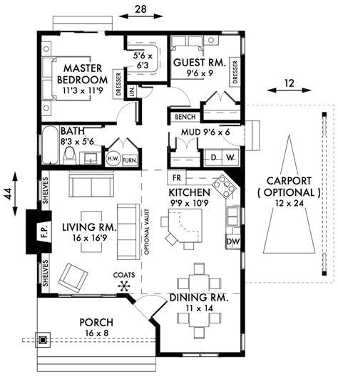 cottage floor plans 2 bedroom cottage house plan newell design
