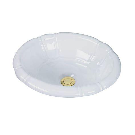 pegasus sienna drop  bathroom sink  white  wh