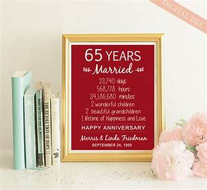 65th anniversary gift 65 years wedding anniversary With 65th wedding anniversary gifts