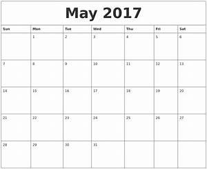 may 2017 calendar word weekly calendar template With 2017 word calendars