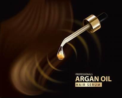 Oil Hair Background Argan Advertisement Vector Serum
