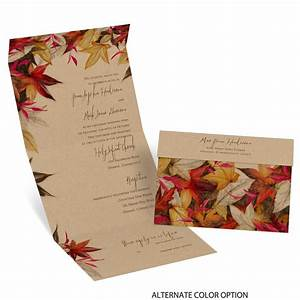 autumn maple seal and send invitation invitations by dawn With all in one wedding invitations reviews