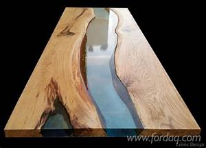 Contemporary Wood And Epoxy Resin Tables