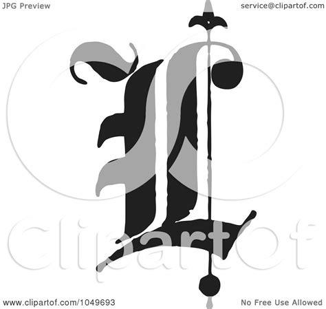 royalty free rf clip illustration of a black and white abc letter l by