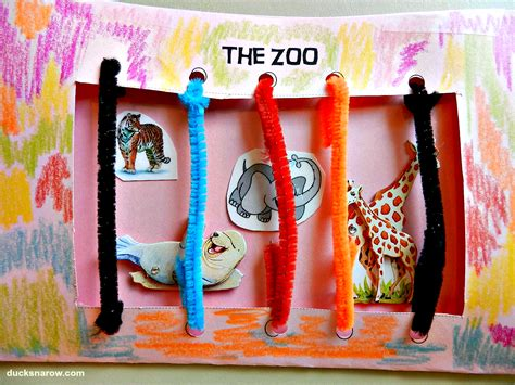 z is for zoo preschool craft ducks n a row 252 | Zoo%2Bfront