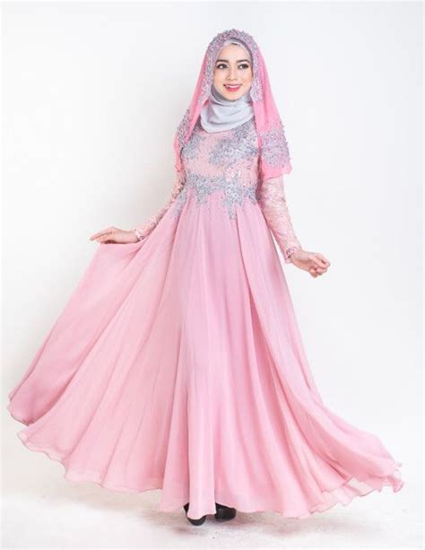 malay wedding dress dusty pink muslim wedding