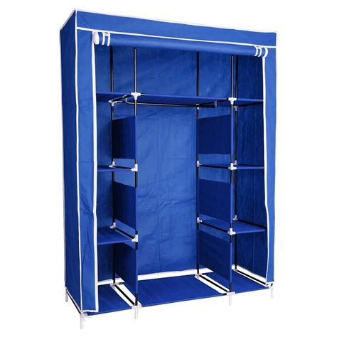 Cloth Storage Wardrobe by 50 Quot Portable Wardrobe Folding Closet Hanging Cloth Storage