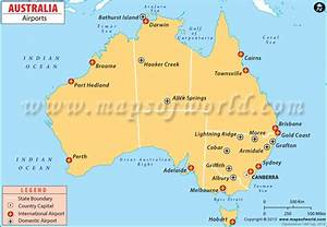 Australia Airports, Airports in Australia Map