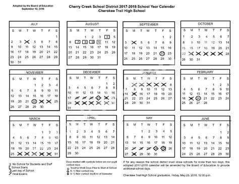 trail high school calendars co 323 | 2017 2018 cherokee trail high school page 1
