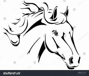 Tribal Horse Head Design Perfect Logo Stock Vector 1680609 ...