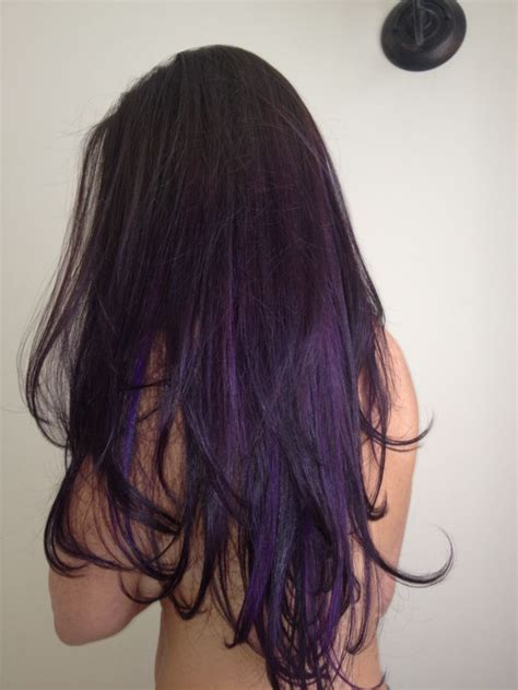 glamorous purple hairstyles   dark purple hair