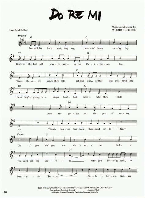 .re, mi children do, re, mi maria do, re, mi the first three notes just happen to be do, re, mi children do, re, mi maria do, re, mi, fa, so, la, ti use the citation below to add these lyrics to your bibliography: Cisco Houston: Do Re Mi: Sheet Music