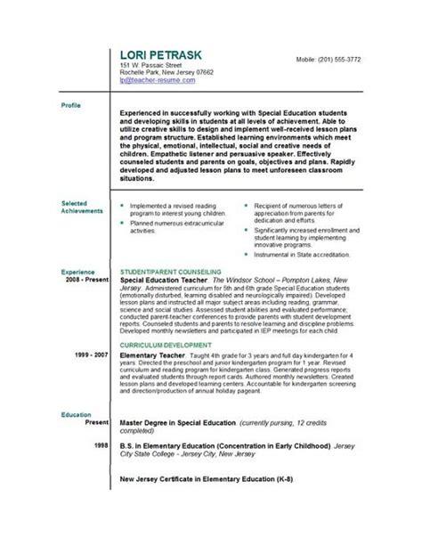 resume templates easyjob