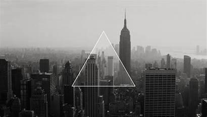 Dark Triangle Monochrome Px Minimalism Linux Technology