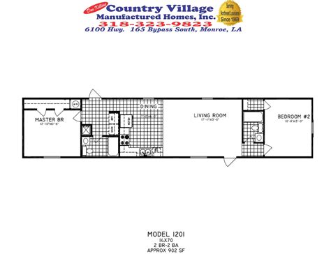 single wide floorplans don killins country village manufactured homes