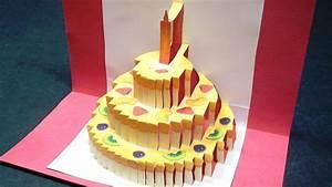 Birthday Cake Pop Up Card  Happy Birthday Kirigami