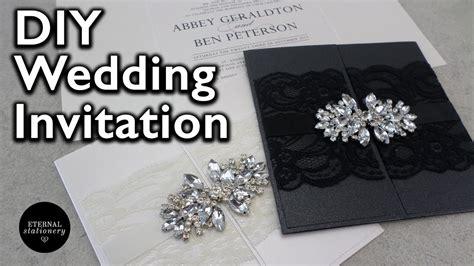 how to make an elegant gatefold wedding invitation diy