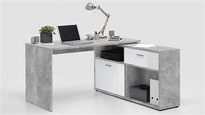 Computertisch Weiß Hochglanz : eck schreibtisch diego computertisch winkeltisch beton wei hochglanz ~ Indierocktalk.com Haus und Dekorationen