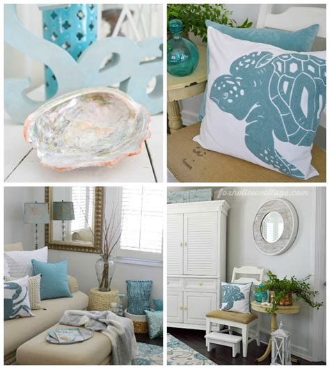 seaside decor coastal cottage summer living room fox hollow cottage