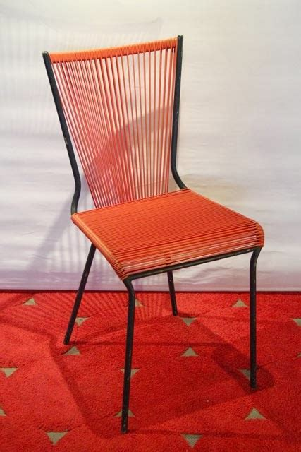 chaise scoubidou chicbaazar objets vintage 50 60 70 chaise scoubidou