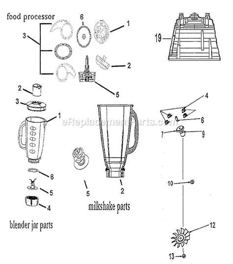 Kitchen Blender Parts by Oster 4125 Parts List And Diagram Ereplacementparts