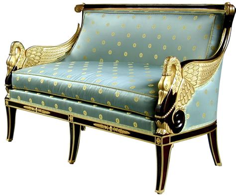 Luxury Settees by Empire Style Sofa With Swans Empire And Empire Style