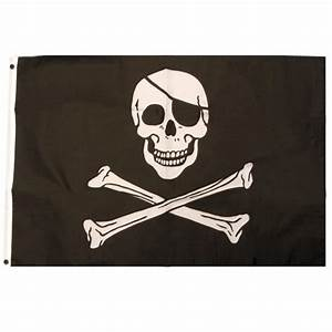 Pirate Skulls and Crossbones Flag Partyrama co uk