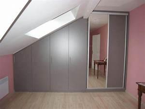 Placard Sous Rampant : impressionnant meuble sous rampant placard sous rampant leroy merlin ~ Melissatoandfro.com Idées de Décoration